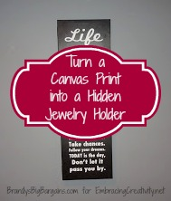 Turn a Canvas Print Into a Hidden Jewelry Holder #DIY