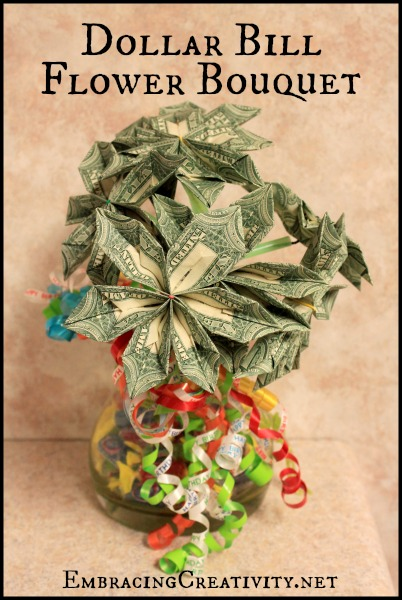 Dollar Bill Flower Bouquet