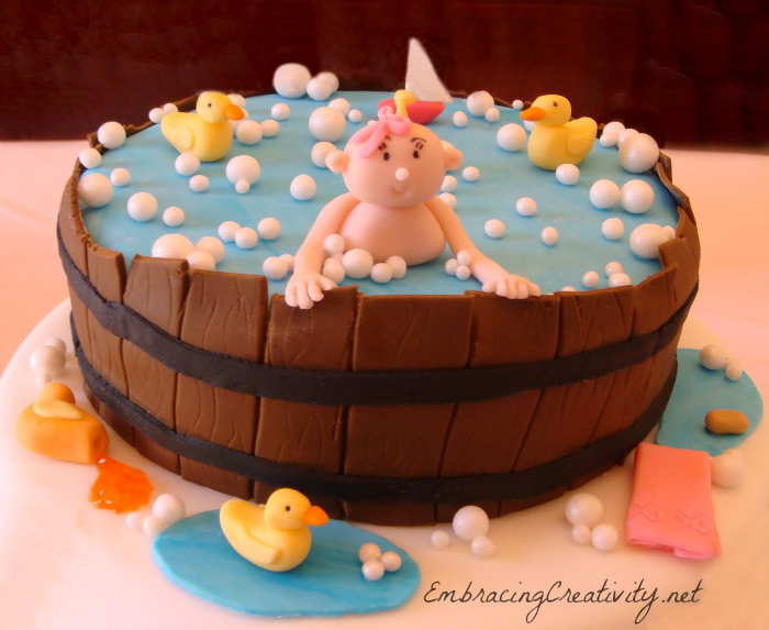 baby shower cake for girls or boys embracing creativity