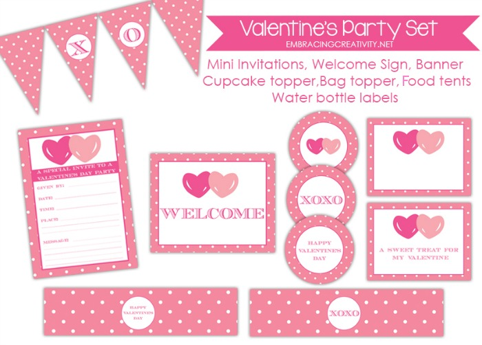 Free Valentine\'s Day Party Printables - Embracing Creativity