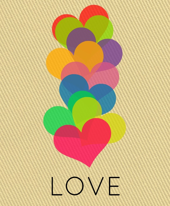 Love and Hearts - Free Valentine Printable!