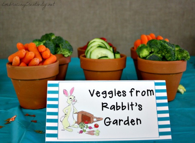 Winnie the Pooh Party - Rabbit's Garden