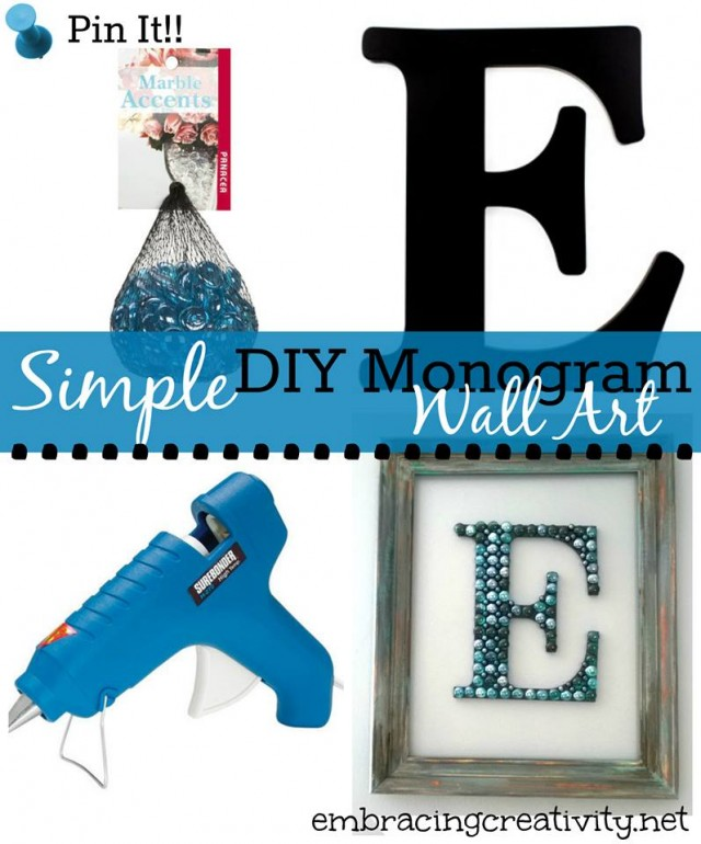 DIY Monogram Wall Art!